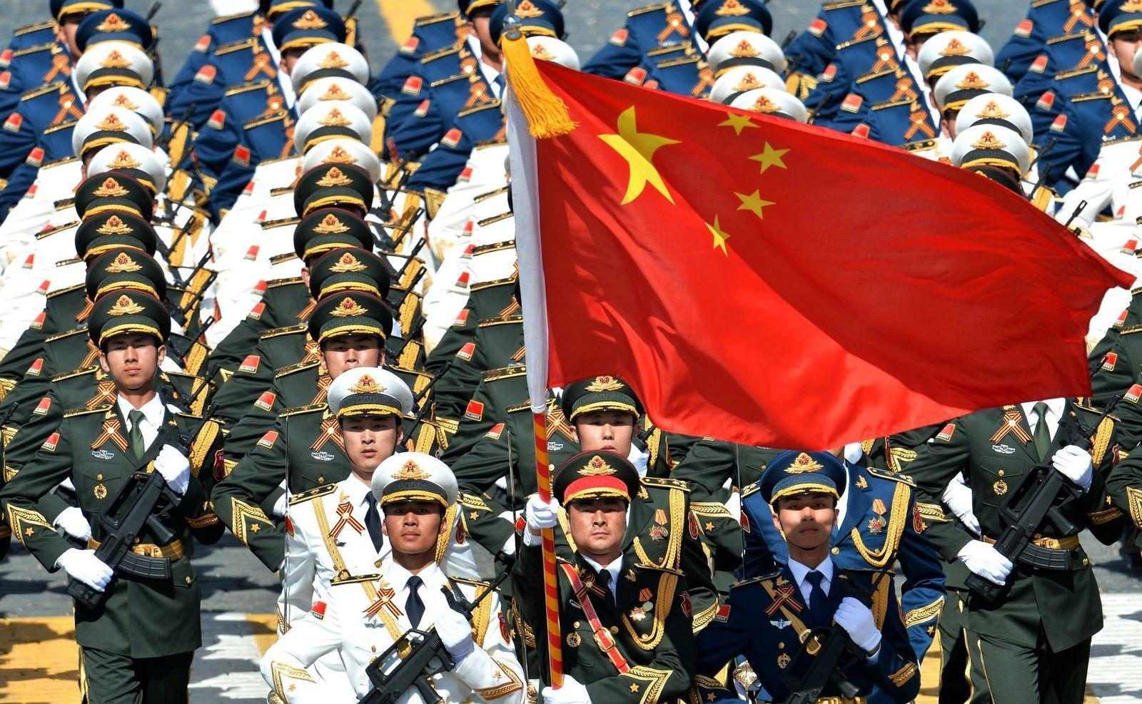 中國人民解放軍閱兵儀式。圖片來源:克里姆林宮 CC BY 3.0