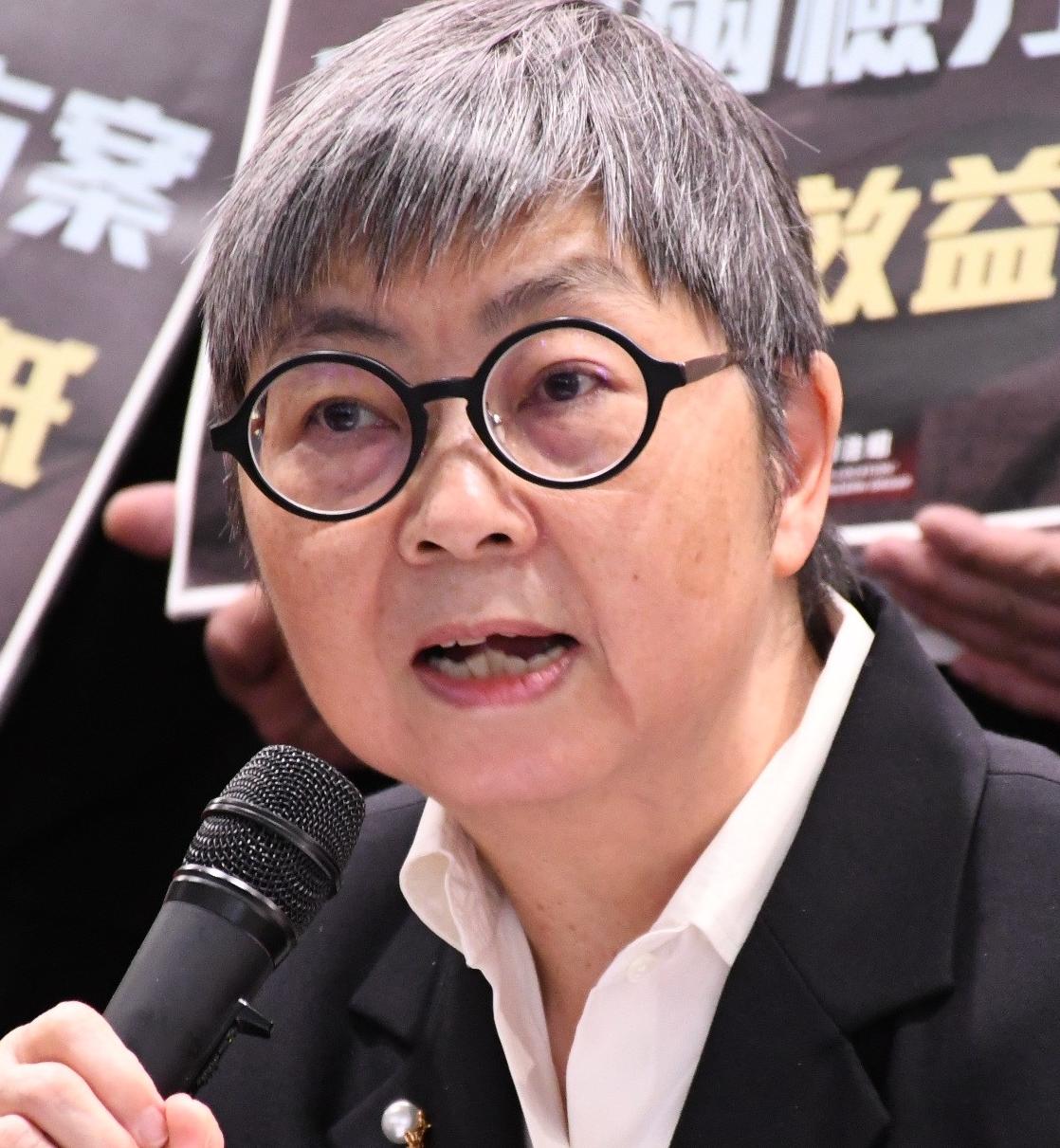 香港前立法會議員吳靄儀參加反對《送中條例》遊行。(圖片來源:美國之音)